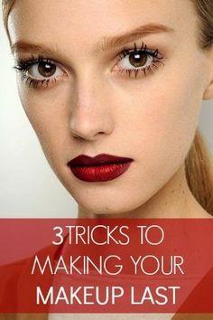 3 Tricks to Help Your Makeup Last