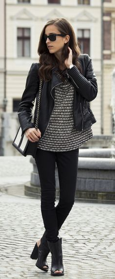 Tesa Jurjasevic is wearing a skinny jeans from Diesel, jumper from Zara and the bag is from H&M