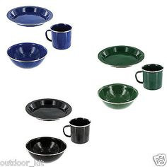 #Highlander deluxe enamel bowl mug and plate set – hard #wearing steel #camping,  View more on the LINK: http://www.zeppy.io/product/gb/2/321665589370/