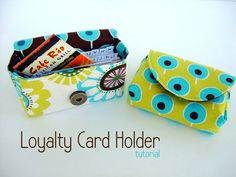Loyalty card holder. I like the pattern