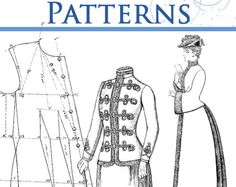 36 Victorian DRESS Outfit SEWING PATTERNS ~ Vests 7c5e76c281d