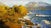 Nature Landscape Painting by Margaret J Rocha   Landscape nature fineart painting for sale.