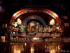 Old Fashioned Western Saloon Bar by Ginger Sanders, via Dreamstime - Bar Ideen Western Saloon, Western Bar, Western Decor, Dude Ranch Vacations, Dream Bars, Westerns, City, Group, Country