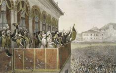 * Aclamação do Imperador Pedro I no Dia do Fico *  Paço Imperial. Rio de Janeiro, Brasil (by Jean-Baptiste Debret).