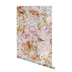 Woodland Wallpaper Lilac Grey