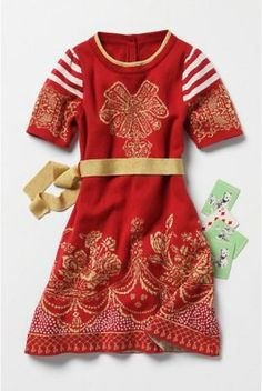 Anthropologie All Wrapped Up Dress Baby Girl Dress Size 2T, liaMolly Lia Molly