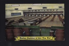 Nybo Lanes Bowling Alley Red Wing Minnesota 1940's Postcard