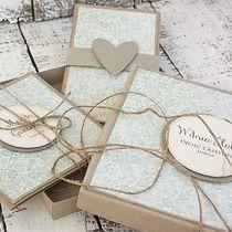 Ślub - Zestaw kartka,pudełko etui na pieniądze, scrapbooking - kartki okolicznościowe