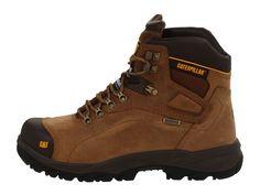 Caterpillar Diagnostic Hi WP Steel Toe Men's Work Boots Dark Beige