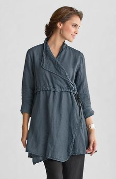 """""""Lancaster Tunic"""" Linen Tunic by Cynthia Ashby on Artful Home"""