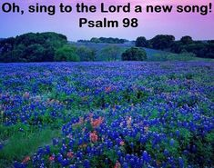 GOD Morning from Trinity, TX Today is Thursday 4-8-2021 Day 98 in the 2021Journey Make It A Great Day, Everyday! Oh, sing to the Lord a New Song! Today's Scriptures: Psalm 98 (NKJV) Oh, sing to the Lord a new song! For He has done marvelous things; His right hand and His holy arm have gained Him the victory. The Lord has made known His salvation; His righteousness He has revealed in the sight of the nations.