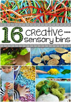 These creative sensory bins make sensory play awesome!