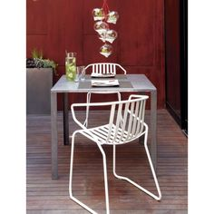 Great outdoor Valentina chairs from CB2.