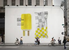 """Name: Louis Vuitton Lemon Sorbet • Designer: Lara Aktinson • Description: """"This is a collaboration in progress with a high fashion department store in the U.A.E., inspired by the most iconic S/S 13 fashion collections and the summer popsicle fad."""" — """"S/S13 Fashion Pops"""" by Lara Aktinson, Behance (Retrieved: 1 December, 2013)"""