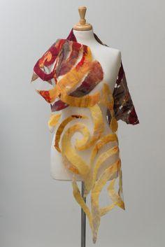 Nuno fieltro bufanda fieltro bufanda bufanda de seda por TERMEFELT                                                                                                                                                                                 Más