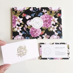 Cartão de visita floral