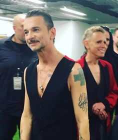 Dave Gahan and Martin Gore of Depeche Mode - Backstage Global Spirit Tour 2017