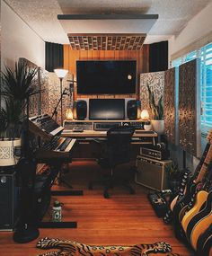 Music Studio Decor, Home Recording Studio Setup, Home Studio Setup, Home Studio Music, Studio Interior, Dream Studio, Home Music Rooms, Decoration, Production Studio