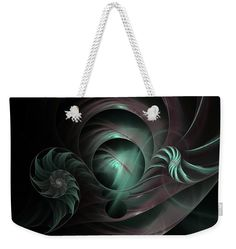 """Space Funnels Weekender Tote Bag (24"""" x 16"""") by Marina Usmanskaya.  The tote bag is machine washable and includes cotton rope handle for easy carrying on your shoulder.  All totes are available for worldwide shipping and include a money-back guarantee.#MarinaUsmanskayaFineArtDigitalArt #ArtForHome #FineArtPrints #Space"""