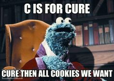 C is for CURE. Then all the cookies we want!