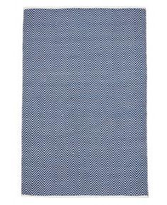 Nantes Navy Herringbone Flatweave Rug