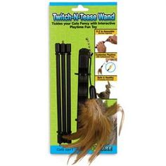 Ware Manufacturing TwitchNTease Wand Cat Toy >>> More info could be found at the image url.