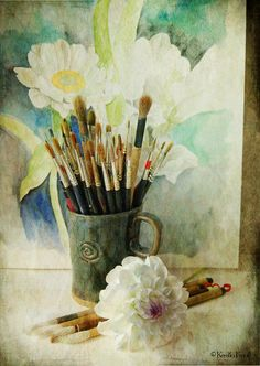 Watercolor project by Kerstin Frank art, via Flickr