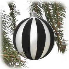4 black and white stripe glass ball ornament black christmas decorations white christmas ornaments - Black And White Christmas Ornaments