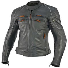 Vulcan Mens VNE-98431 Armored Jacket  The Vulcan VNE-98431 Motorcycle Jacket is made of premium cowhide leather. It features advanced design with perforated leather panels and ventilation vents that drop heat and reduce sweat. Featuring a insulation liner that is removable for cold weather riding and Keprotec with Kevlar fabric under the arm, for reinforcement abrasion resistance and moisture wicking in key impact area to maximize mobility. Along with its many other features; re...