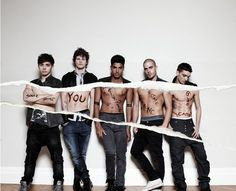 I don't know what exactly is written on them, but I thought this looked pretty cool, andd it's The Wanted so... <3