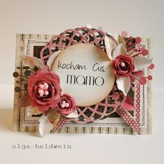 Arts&Crafts keep me sane.: Na dzień matki znów Heartfelt Creations, Flower Cards, Vintage Fashion, Vintage Style, Projects To Try, Card Making, Arts And Crafts, Scrapbooking, Frame