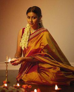"Muhunthan on Instagram: ""🪔 Happy Deepavali /இனிய தீபாவளி நல்வாழ்த்துக்கள் 🪔 ... Muse: @abissheka_lloydson MUAH: @eleganceenriched Saree: @aashram.kouture…"""