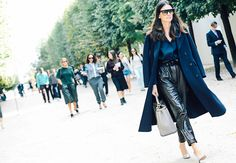 Leila Yavari of Stylebop is always one of fashion week's best dressed #StreetStyle