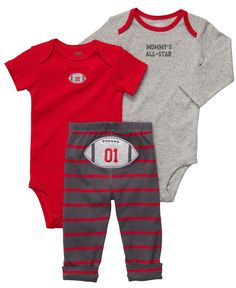 Carter's Baby Set, Baby Boys 3-Piece Turn Me Around Football Set - Kids - Macy's
