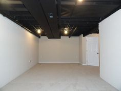unfinished basement ceiling paint. black unfinished  Projects Pinterest Unfinished basement ceiling basements and Glasses