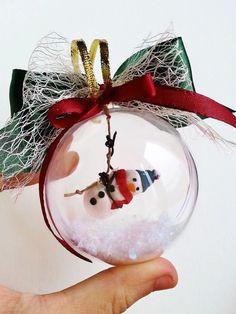 Ornement de Noël bonhomme de neige / Decoration arbre de Noel / Bonhomme de neige ornement arbre Noel / Decoration de noel / Boule de neige