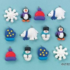 SUPER COOL WINTER FIMO CLAY CHARMS   review   Kaboodle