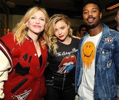 <p>Courtney Love, Chloë Grace Moretz, and Michael B. Jordan schooled everyone on style at an afterparty for New York Fashion Week's Coach preview. The trio's varsity jacket, denim jacket, and fun T-shirts were on point. (Photo: Rabbani and Solimene Photography/Getty Images for Coach) </p>