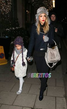 Jessica Alba and her daughter Honor are spotted leaving their hotel in London on Tuesday.