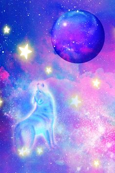 #glitter #sparkle #galaxy #sky #stars #wolf #animals #moon #nature #pastel #shimmer #glow #planets #clouds #aesthetic #wallpaper