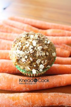 Carrot & Coconut Whole Wheat Muffins with an extra protein punch.