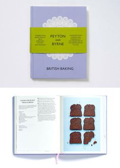 Peyton and Byrne Cookbook (designed by Farrow) - could think about designing it like a cookbook?