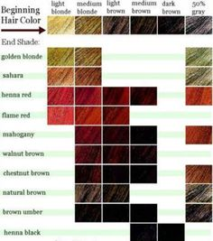 how to choose a new hair color charts