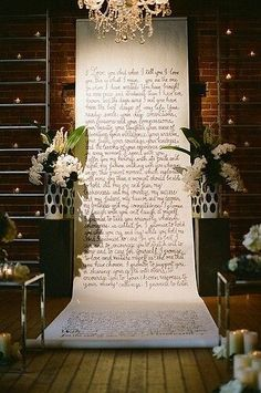 Calligraphy ceremony backdrop Surprise Elopement Shoot by Stephanie Williams of This Modern Romance for… The post Calligraphy ceremony backdrop Surprise Elopement Shoot by Stephanie Williams of & appeared first on Wedding. Wedding Ceremony Ideas, Ceremony Backdrop, Ceremony Decorations, Wedding Events, Our Wedding, Dream Wedding, Wedding Backdrops, Wedding Arches, Backdrop Ideas