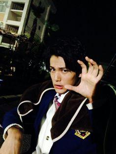 """Taishi Nakagawa, BTS photo, J drama """"Jigoku Sensei Nube"""", 2014."""