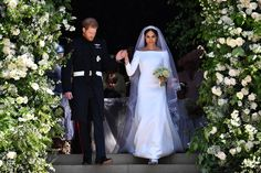 Meghan Markle Just Changed Into Her Second Wedding Dress and She Looks Stunning - HarpersBAZAAR.com