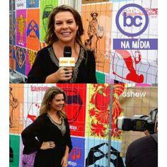 A Diva Fernanda Souza usando a Blusa com bordado níquel no decote frente 《maravilhosa》by Banana Café ♡