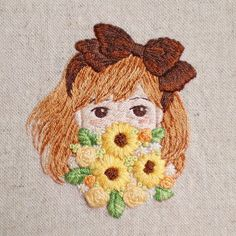 Photo Portrait Embroidery, Creative Embroidery, Modern Embroidery, Hand Embroidery Designs, Cross Stitch Embroidery, Embroidery Patterns, Diy Crafts Jewelry, Brooches Handmade, Needlework