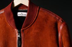Stone Island - garment dyed sheepskin