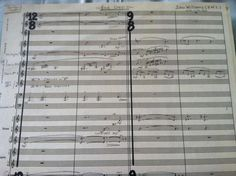 John William's handwritten score of the End Credits to Star Wars